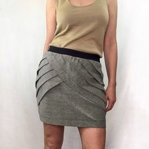 Silence and Noise short skirt bone color